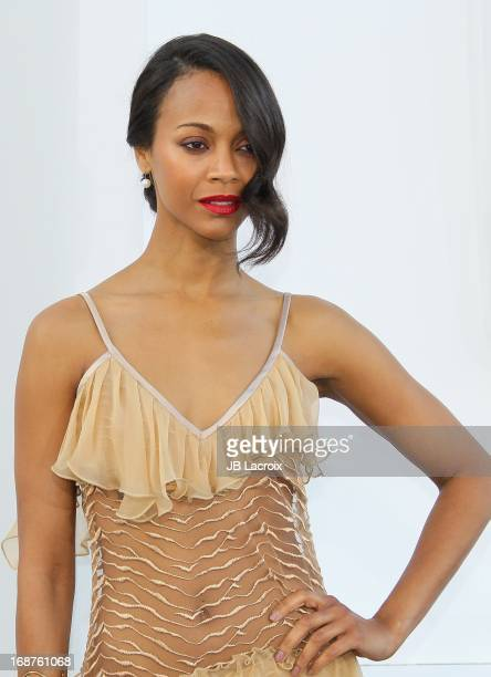 Zoe Saldana attends the Los Angeles premiere of 'Star Trek Into Darkness' held at Dolby Theatre on May 14 2013 in Hollywood California