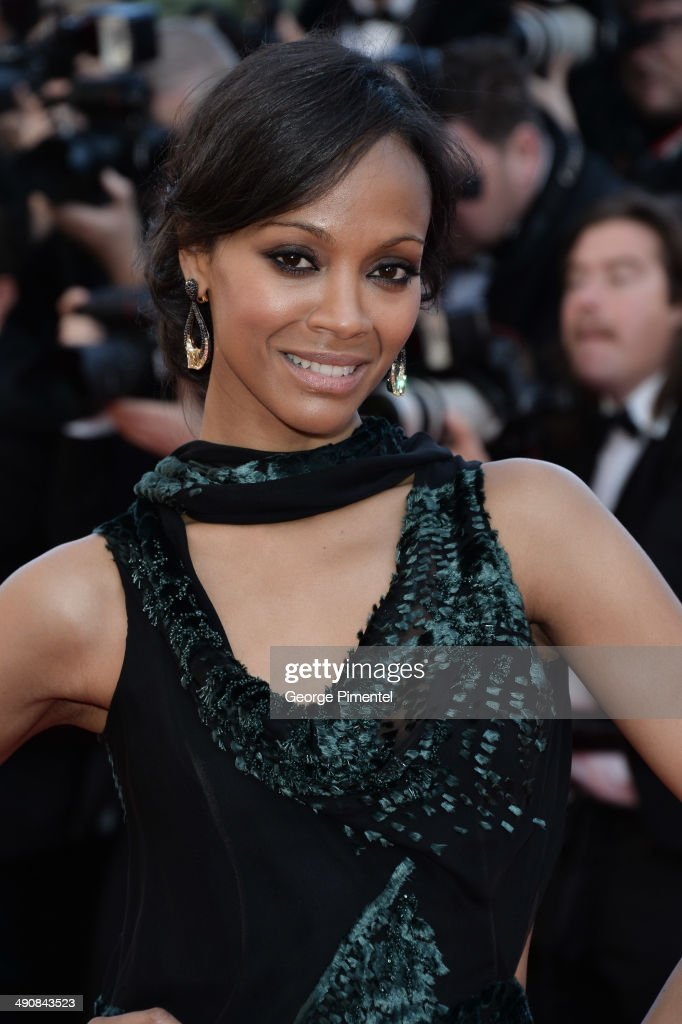 Zoe Saldana attends the 'Mr Turner' premiere during the 67th Annual Cannes Film Festival on May 15, 2014 in Cannes, France.