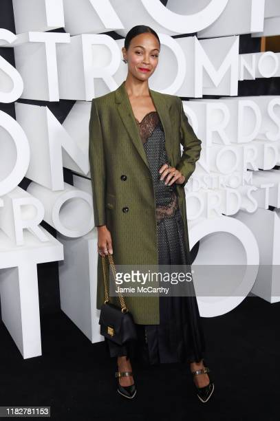 Zoe Saldana attends the Nordstrom NYC Flagship Opening Party on October 22, 2019 in New York City.