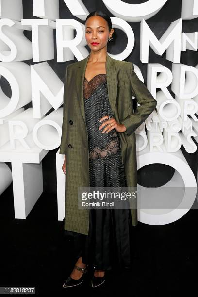 Zoe Saldana attends the Nordstrom NYC Flagship Opening Party on on October 22, 2019 in New York City.
