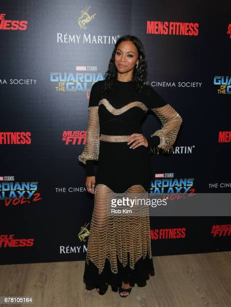 Zoe Saldana attends the screening of 'Guardians of the Galaxy Vol. 2' presented by Remy Martin at The Whitby Hotel on May 3, 2017 in New York City.