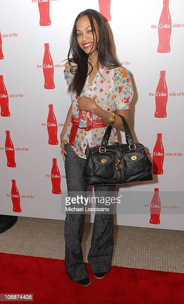 Zoe Saldana during CocaCola's Coke Side Of Life Launch Party with a Performance by NeYo March 30 2006 at Capitale in New York City New York United...