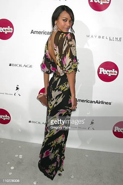 """Zoe Saldana during People En Espanol's 4th Annual """"50 Most Beautiful"""" Gala - White Carpet Arrivals at Capitale in New York City, New York, United..."""