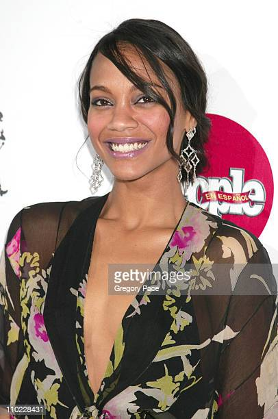 Zoe Saldana during People En Espanol's 4th Annual 50 Most Beautiful Gala White Carpet Arrivals at Capitale in New York City New York United States