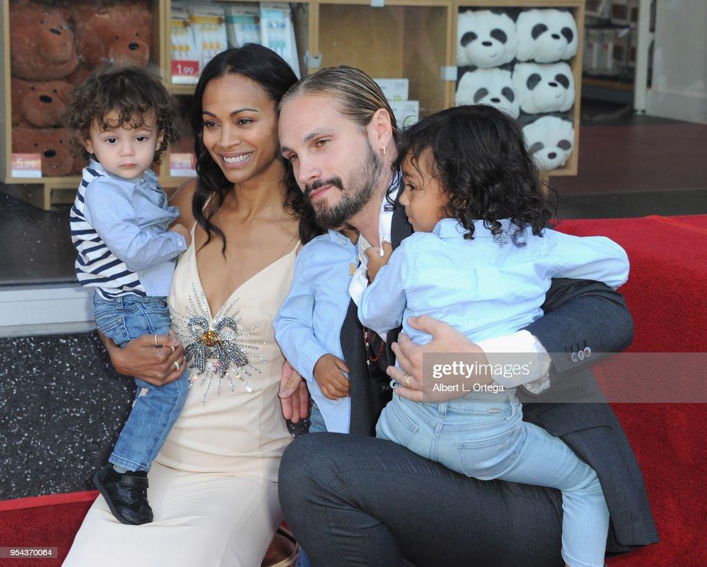 Zoe Saldana Husband Marco Perego And Their Children Attend