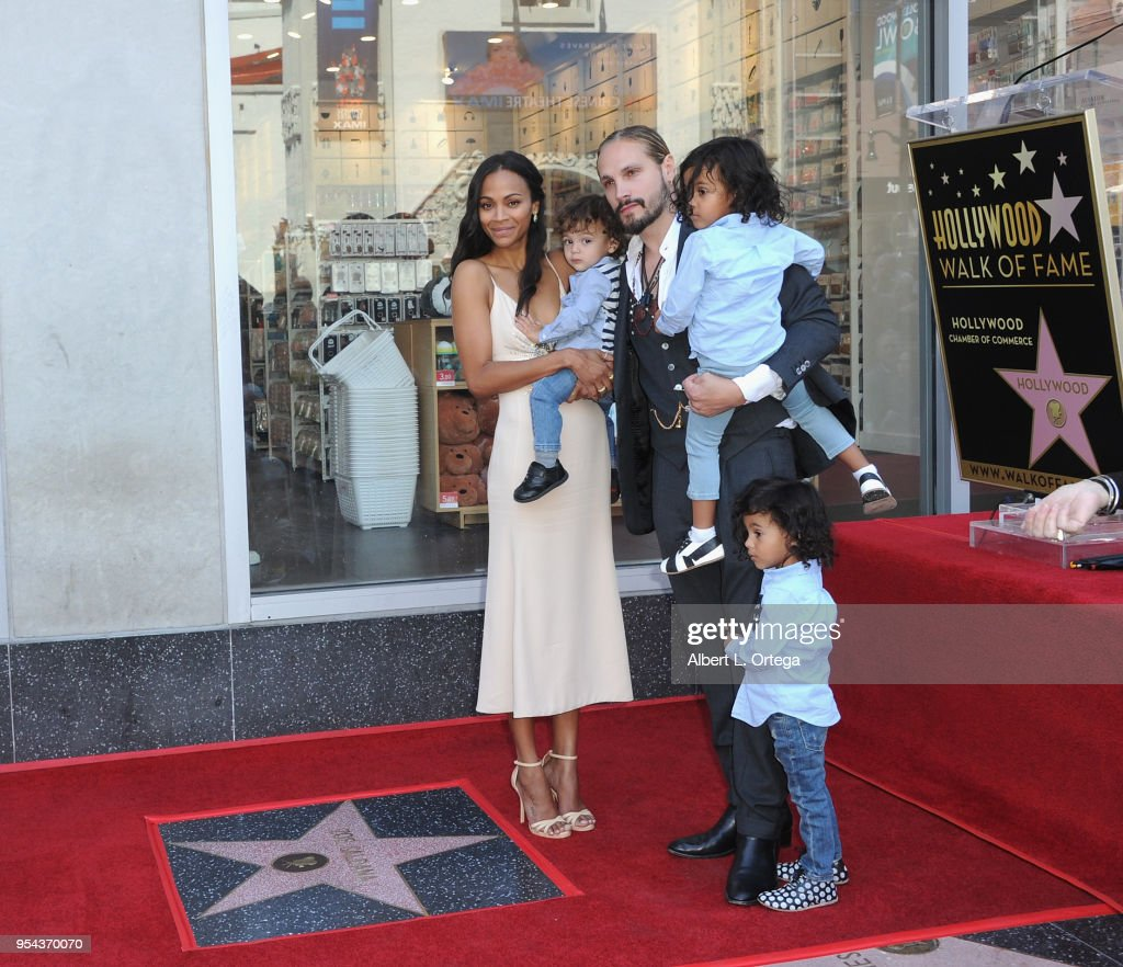 Zoe Saldana Honored With A Star On The Hollywood Walk Of Fame Photos ...