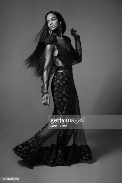 Zoe Saldana is photographed for #Legend on February 20 2017 in Los Angeles California