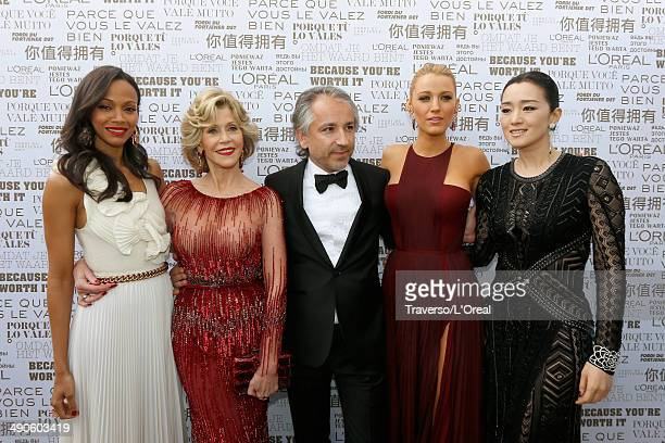Zoe Saldana Jane Fonda Cyril Chapuy Blake Lively and Gong Li attend the Opening Ceremony and the 'Grace of Monaco' Premiere during the 67th Annual...