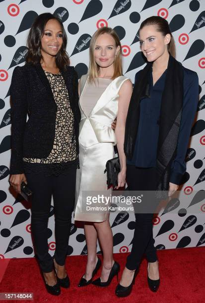 Zoe Saldana Kate Bosworth and Allison Williams attend the Target Neiman Marcus Holiday Collection launch event on November 28 2012 in New York City