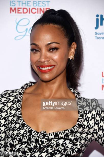 Zoe Saldana-Perego arrives at Jhpiego's Los Angeles Gala - Laughter Is The Best Medicine on April 29, 2019 in Beverly Hills, California.