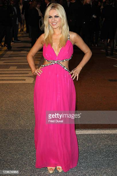 Zoe Salmon arrives at the European premiere of 'Due Date' at Empire Leicester Square on November 3 2010 in London England