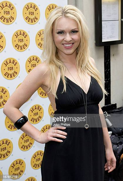 Zoe Salmon Arriving For The Jeans For Genes CelebriTee Party At The Sanctum Soho Hotel In Central London