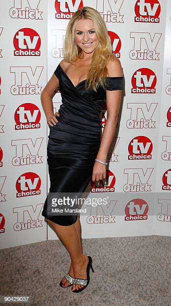 Zoe Salmon attends the TV Quick Tv Choice Awards at The Dorchester on September 7 2009 in London England
