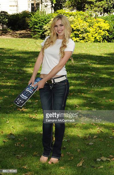 Zoe Salmon launches Virgin Media's first ever 'TV Takeover' at Bedford Square Gardens on May 28 2009 in London England