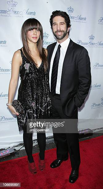 Zoe Schwimmer and David Schwimmer attend the 2010 Princess Grace Awards Gala at Cipriani 42nd Street on November 10 2010 in New York City