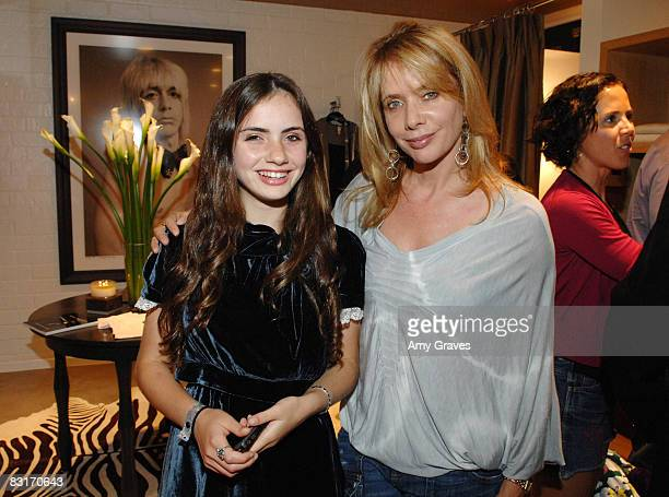 Zoe Sidel and Rosanna Arquette attend the Launch of Barron Duqette's 15 Minutes at Fred Segal Hosted by DeLeon Tequila on October 7 2008 in Santa...