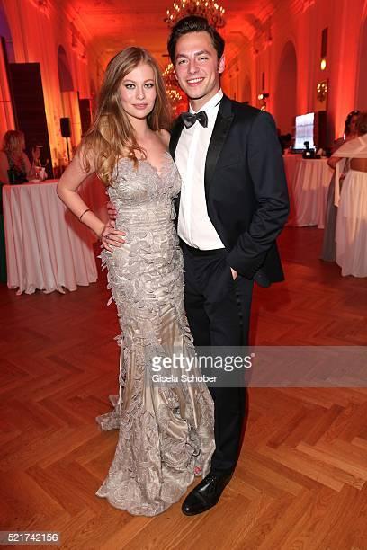 Zoe Straub and her boyfriend Kaspar Leuhusen during the 27th ROMY Award 2015 at Hofburg Vienna on April 16, 2016 in Vienna, Austria.