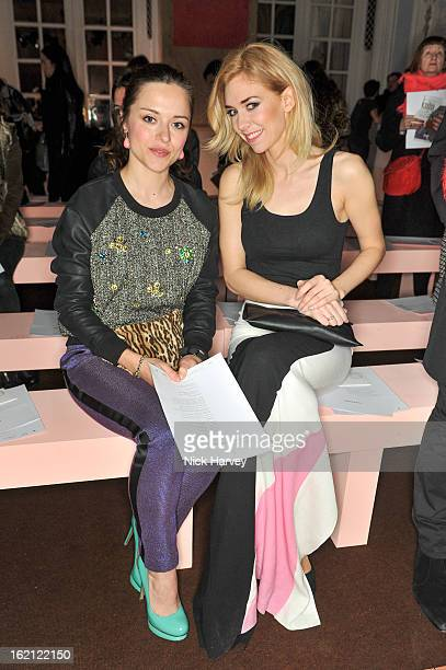 Zoe Tapper and Vanessa Kirby attend the Roksanda Ilincic show during London Fashion Week Fall/Winter 2013/14 at on February 19 2013 in London England