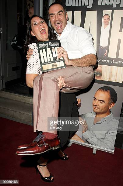 Zoe Tyler and Andrew Barton attend the book launch for Andrew Barton's 'Shiny Happy Hair' on May 18 2010 in London England