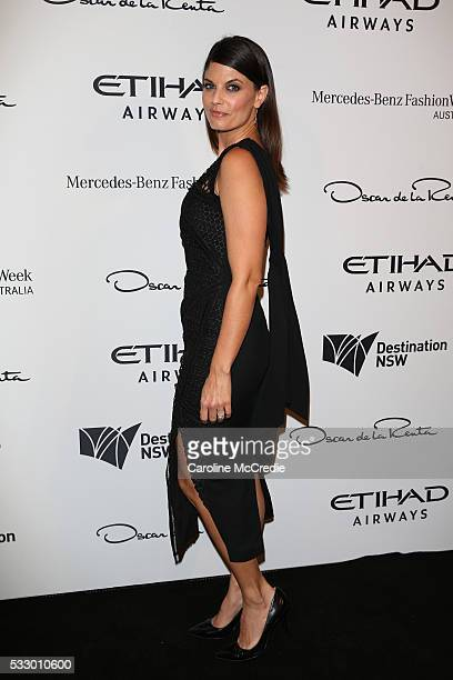 Zoe Ventoura attends the Oscar de la Renta show presented by Etihad Airways at MercedesBenz Fashion Week Resort 17 Collections at Carriageworks on...