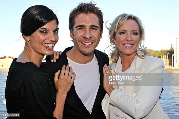 Zoe Ventoura Hugh Sheridan and Rebecca Gibney attend the 53rd TV Week Logie Awards nominations announcement at the Overseas Passenger Terminal on...