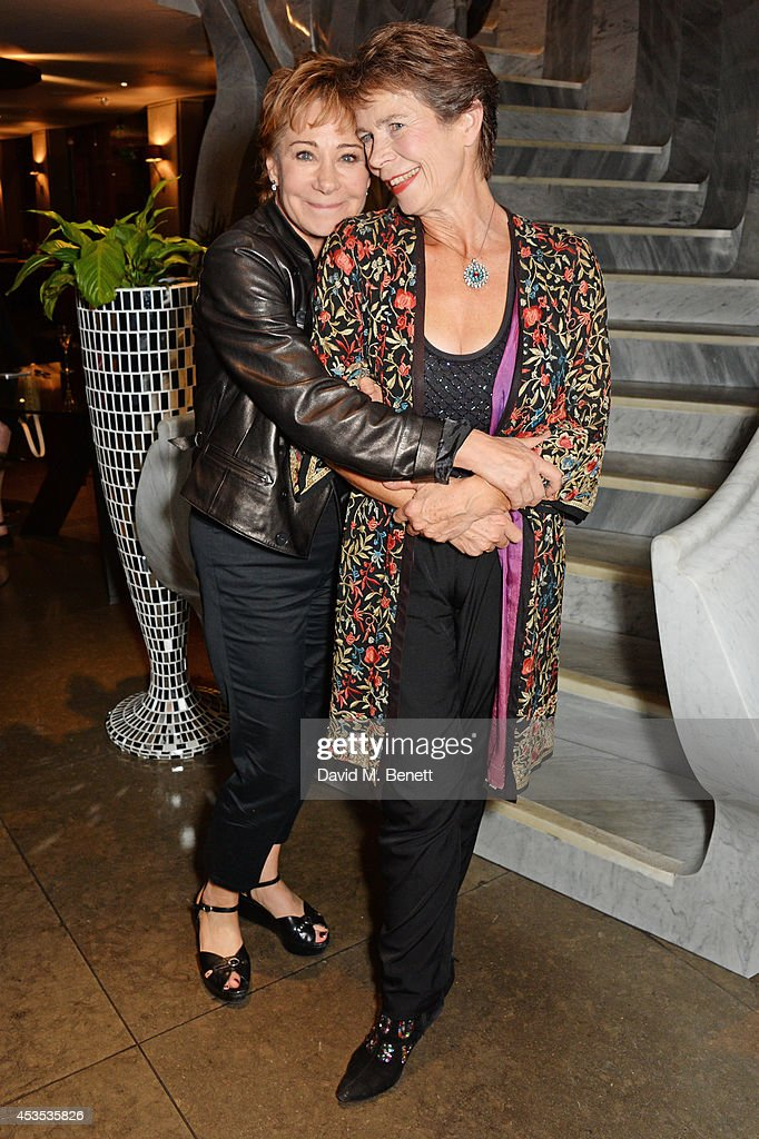 Zoe Wanamaker (L) and Celia Imrie attend an after party celebrating the press night performance of 'Celia Imrie: Laughing Matters' at the St James Theatre on August 12, 2014 in London, England.