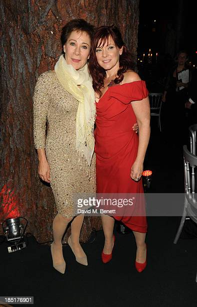 Zoe Wanamaker and Finty Williams arrive at the Shakespeare's Globe Gala Dinner hosted by Zoe Wanamaker on October 17, 2013 in London, England.