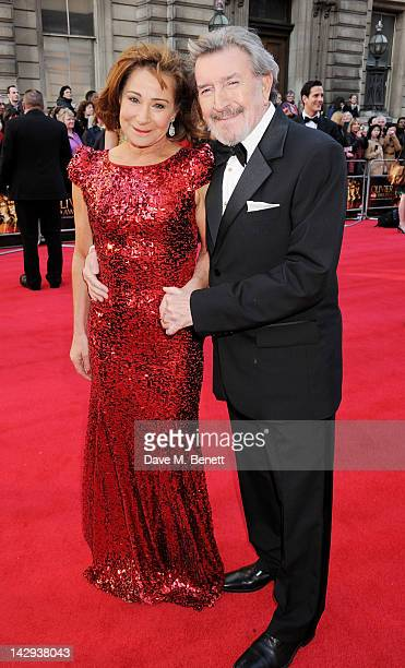 Zoe Wanamaker and Gawn Grainger arrive at the 2012 Olivier Awards held at The Royal Opera House on April 15 2012 in London England