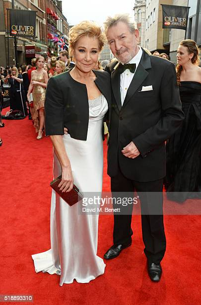 Zoe Wanamaker and Gawn Grainger arrive at The Olivier Awards with Mastercard at The Royal Opera House on April 3 2016 in London England