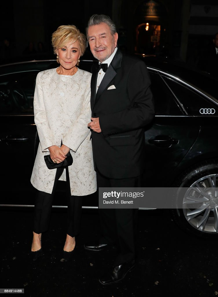 Zoe Wanamaker and Gawn Grainger arrive in an Audi at the Evening Standard Theatre Awards at Theatre Royal on December 3, 2017 in London, England.