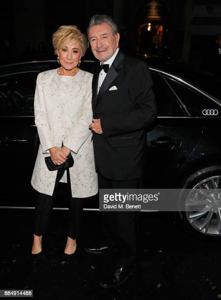 Zoe Wanamaker and Gawn Grainger arrive in an Audi at the Evening Standard Theatre Awards at Theatre Royal on December 3 2017 in London England