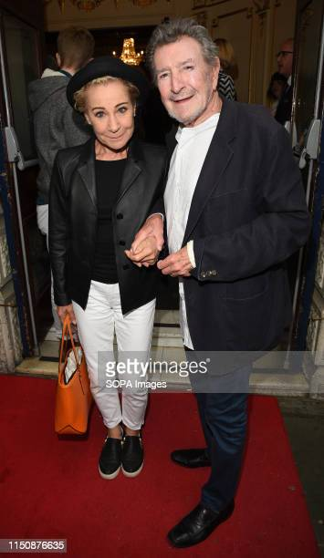 Zoe Wanamaker and Gawn Grainger at the Bitter Wheat Press Night at the Garrick Theatre Charing Cross Road