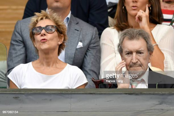 Zoe Wanamaker and Gawn Grainger attend day ten of the Wimbledon Tennis Championships at the All England Lawn Tennis and Croquet Club on July 12 2018...