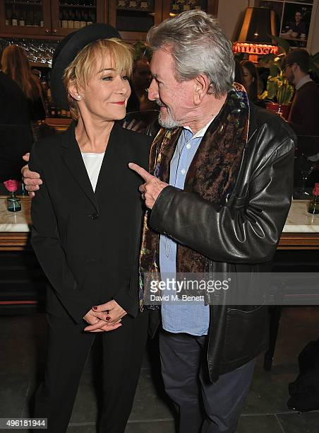 Zoe Wanamaker and Gawn Grainger attend the press night after party for The Winter's Tale by the Kenneth Branagh Theatre Company at The National Cafe...