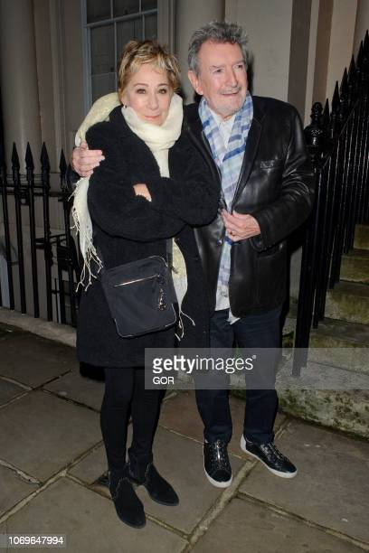 Zoe Wanamaker and Gawn Grainger seen attending the Evgeny Lebedev Christmas Party in North London on December 7 2018 in London England