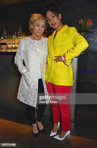 Zoe Wanamaker and Pearl Mackie attend the press night after party for 'The Birthday Party' at Mint Leaf on January 18 2018 in London England