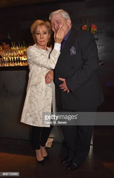 Zoe Wanamaker and Peter Wight attend the press night after party for 'The Birthday Party' at Mint Leaf on January 18 2018 in London England