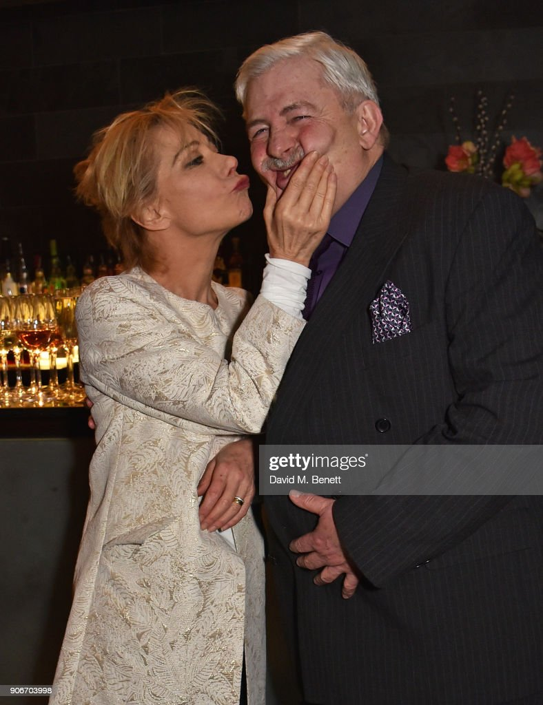 Zoe Wanamaker and Peter Wight attend the press night after party for 'The Birthday Party' at Mint Leaf on January 18, 2018 in London, England.