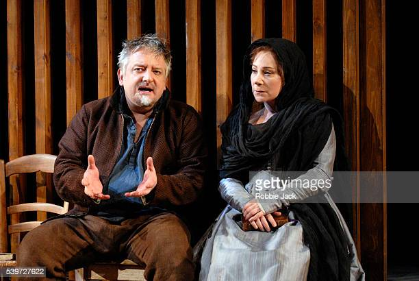 Zoe Wanamaker and Simon Russell Beale in the production Much Ado About Nothing at the National TheatreLondon Copyright Robbie Jack