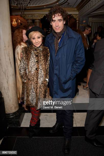 Zoe Wanamaker and Stephen Mangan attend the press night performance of 'Hamilton' at The Victoria Palace Theatre on December 21 2017 in London England