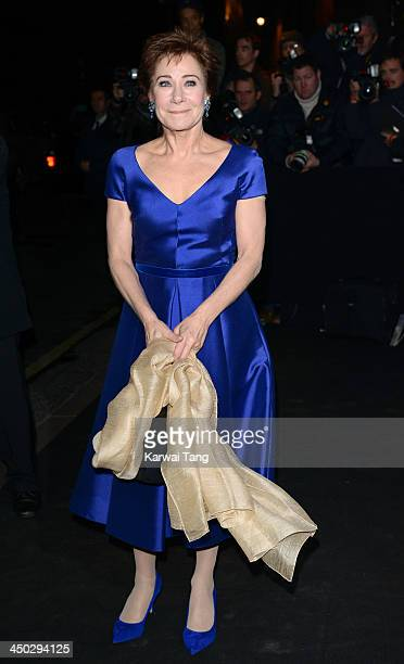 Zoe Wanamaker arrives for the London Evening Standard Theatre Awards held at the Savoy Hotel on November 17 2013 in London England
