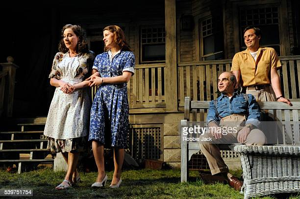 Zoe Wanamaker as Kate Keller Jemima Rooper as Ann Deever David Suchet as Joe Keller and Stephen Campbell Moore as Chris Keller in the production of...