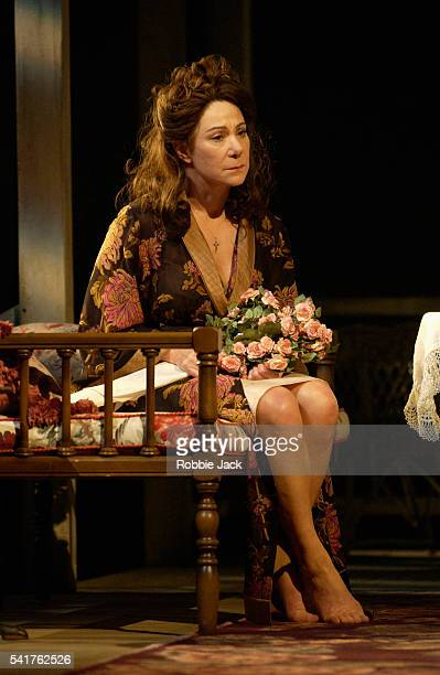 Zoe Wanamaker as Serafina della Rose in the production of The Rose Tattoo at the Royal National Theatre London