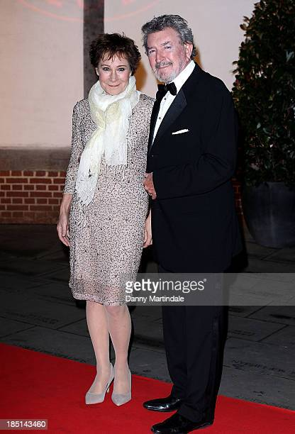 Zoe Wanamaker CBE and husband Gawn Grainger attend as Zoe Wanamaker hosts a Gala Dinner at Shakespeare's Globe on October 17 2013 in London England
