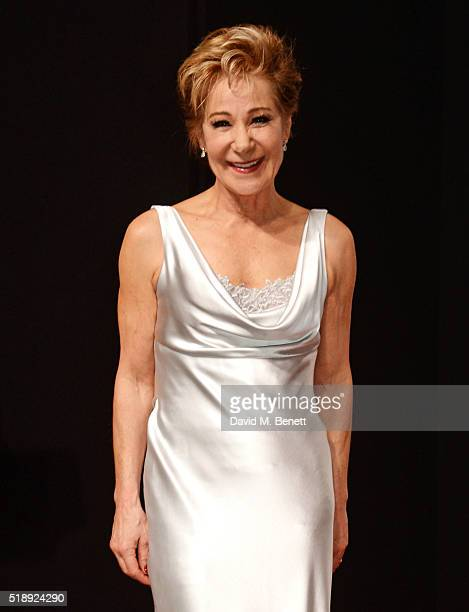 Zoe Wanamaker poses in the Winners Room at The Olivier Awards with Mastercard at The Royal Opera House on April 3 2016 in London England