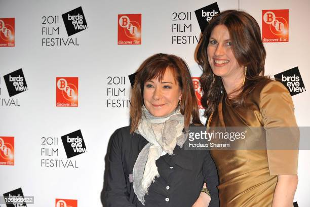 Zoe Wannamaker and Rachel Millward attend the Birds Eye View Film Festival at BFI Southbank on March 8 2011 in London England