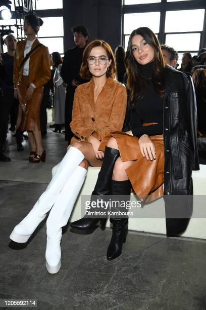 Zoey Deutch and Camila Morrone attend the Coach 1941 fashion show during February 2020 - New York Fashion Week on February 11, 2020 in New York City.