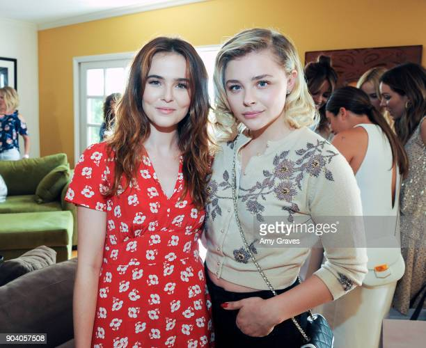 Zoey Deutch and Chloe Grace Moritz attend the Jen Klein Day of Indulgence on August 13 2017 in Los Angeles California