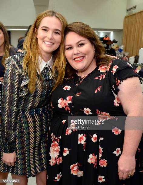 Zoey Deutch and Chrissy Metz attend the Dress For Success WorldwideWest Seventh Annual Shop For Success Vip Event In Los Angeles on November 30 2017...