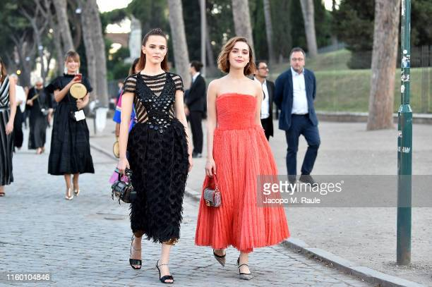 Zoey Deutch and Kiernan Shipka attend the Cocktail at Fendi Couture Fall Winter 2019/2020 on July 04 2019 in Rome Italy